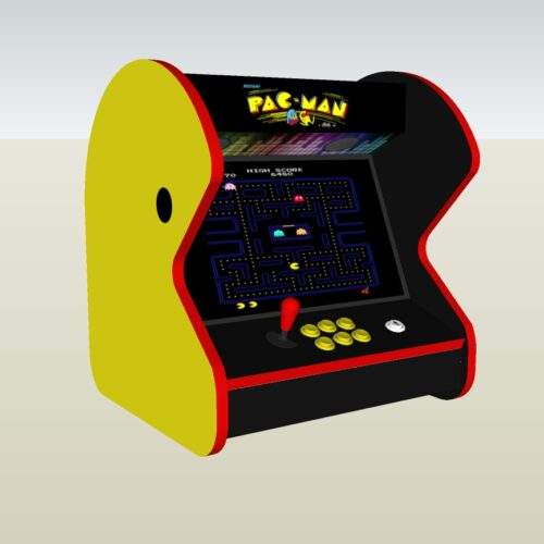 The PacMan Yellow Bartop Arcade Machine - Left
