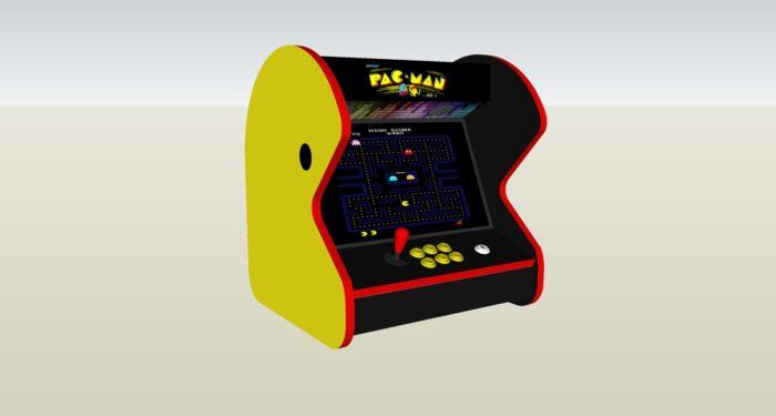 The PacMan Yellow Bartop Arcade Machine - Left