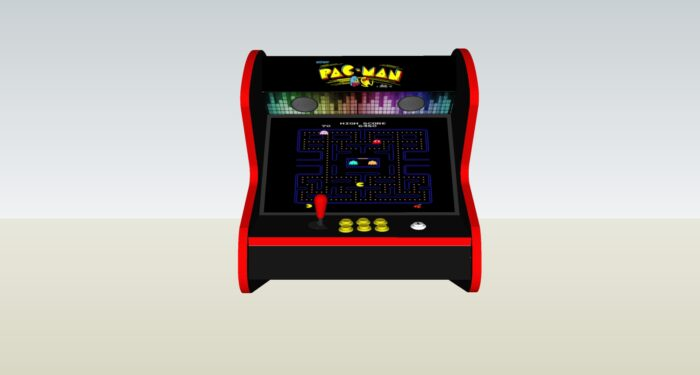 The PacMan Yellow Bartop Arcade Machine - middle