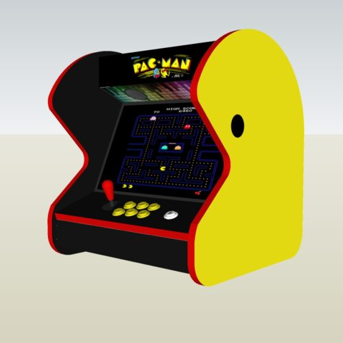 The PacMan Yellow Bartop Arcade Machine - right