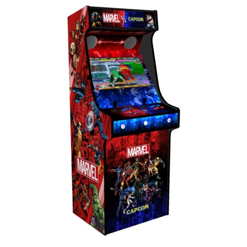 Classic Upright Arcade Machine - Marvel vs Capcom Theme v2 - Left