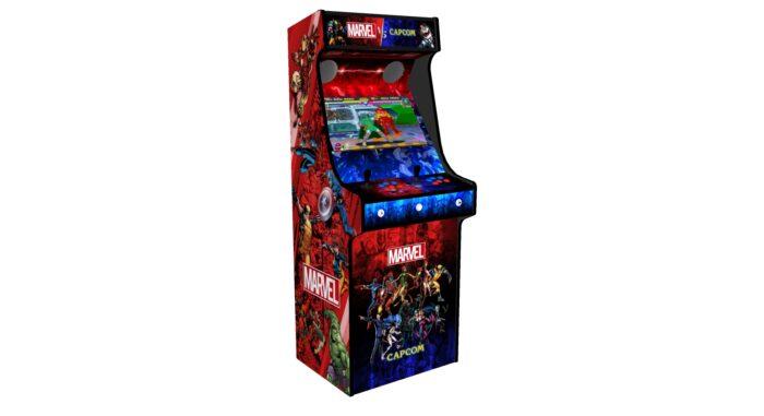 Classic Upright Arcade Machine - Marvel vs Capcom Theme v2 - Left