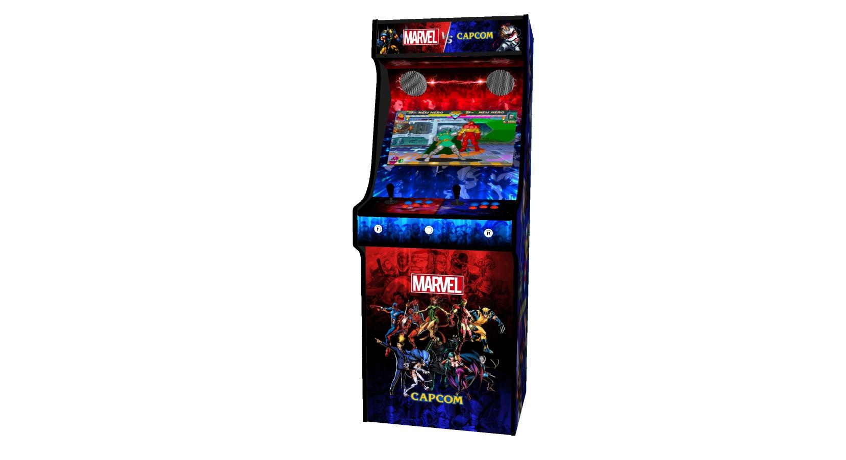 Classic Upright Arcade Machine - Marvel vs Capcom Theme v2 - Midde