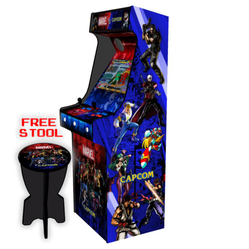 Classic-Upright-Arcade-Machine-Marvel-vs-Capcom-Theme-v2-Right-free-stool