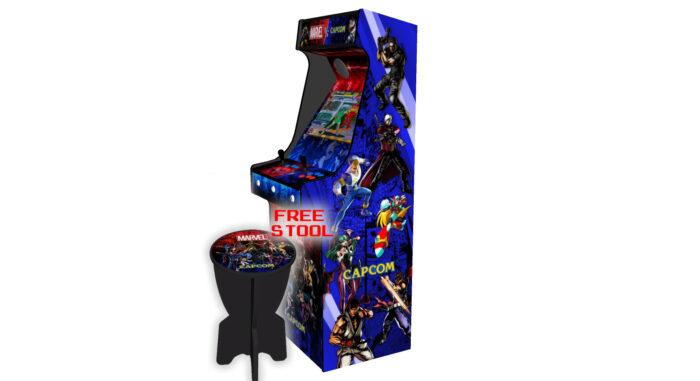 Classic-Upright-Arcade-Machine-Marvel-vs-Capcom-Theme-v2-Right-free-stool