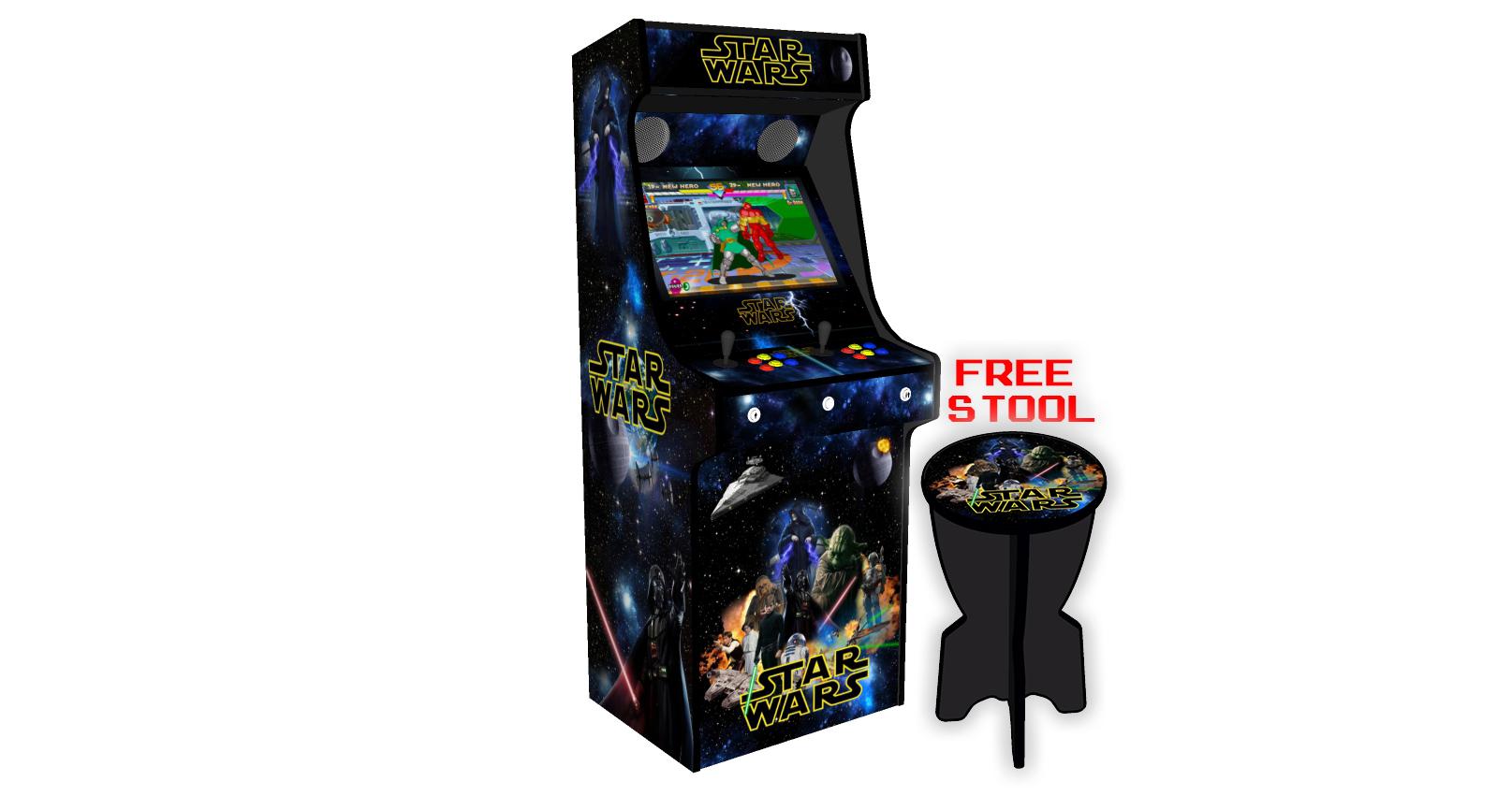 Classic Upright Arcade Machine - Star Wars v2 - Left