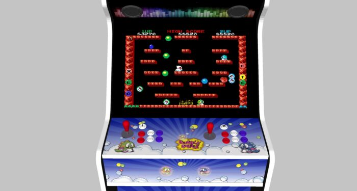 Bubble Bobble - 27 Inch Upright Arcade Machine - American Style Joysticks - white Tmold -controller