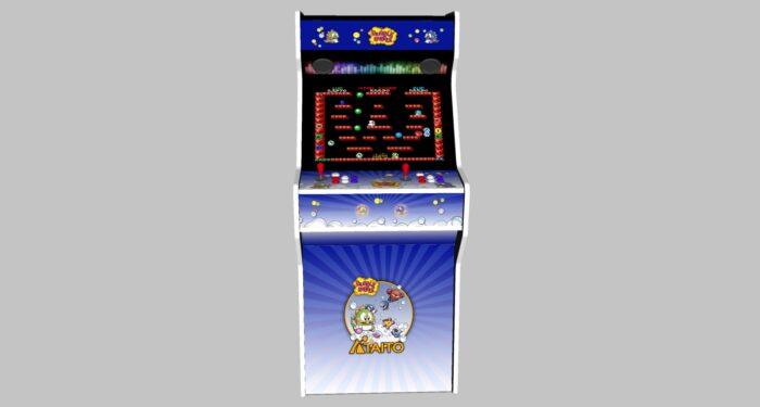 Bubble Bobble - 27 Inch Upright Arcade Machine - American Style Joysticks - white Tmold - middle