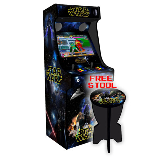 Classic-Upright-Arcade-Machine-Star-Wars-v2-Left-with-stool